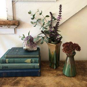 Pair of Vintage Ceramic Glazed Bud Vases
